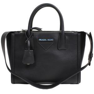 Prada PRADA Concept Bag 2 WAY 1 BA 175 Leather NERO Women's