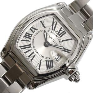 Cartier Roadster SM W62016V3 Quartz Silver Ladies Watch Finished