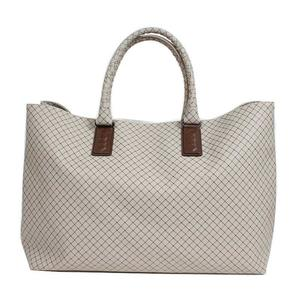 Bottega Veneta BOTTEGA VENETA Inlet Tretch Ojet Tote Bag Light Gray Women's