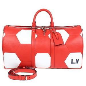 Louis Vuitton Epi-Key Bell Rier 50 M52121 Red Boston bag Men's LOUIS VUITTON