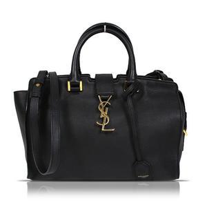 Saint Laurent SAINT LAURENT Monogram Cabas 394461 Black Calf Shoulder Bag