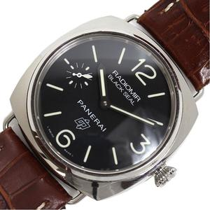Panerai PANERAI Radio Meal Black Seal Logo PAM00380 Hand Winding Men's Watch