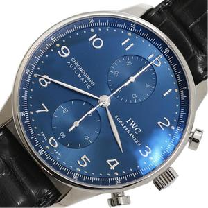 IWC Portuguese · Chronograph IW 371491 Automatic Blue Mens Watch
