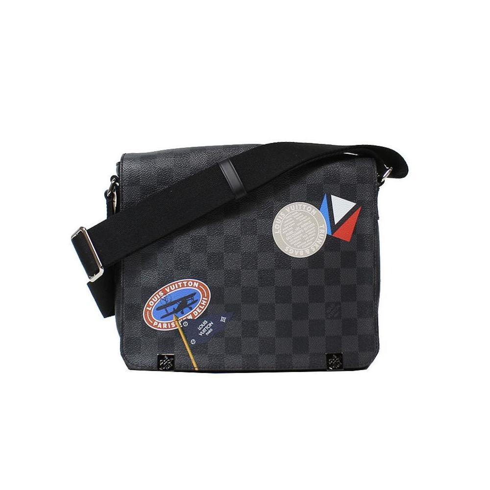 bcc8e735 Louis Vuitton Damier Grafito District PM N41054 Shoulder bag Men's  LOUISVUITTON   elady.com