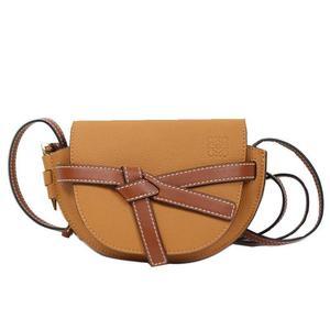 Loewe LOEWE mini gate bag 18 AWLEW 101 calf light camel × pecan color