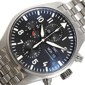 IWC pilot · watch chronograph IW 377 710 self winding black men's finished