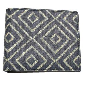 Salvatore Ferragamo Folded wallet CAPSULE NOW Diamond pattern 660740 Navy × White Mens