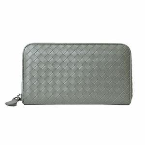 Bottega Veneta BOTTEGA VENETA Intorechato round zipper wallet Khaki Men's