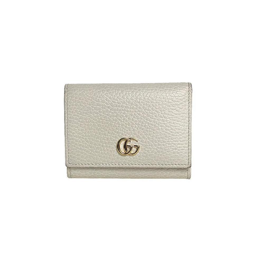 official photos eb8f1 e940c Gucci GUCCI Petit Mermont tri-fold wallet 474746 White ladies | eLady.com