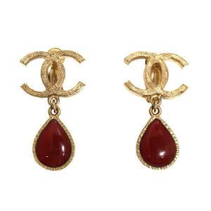 Chanel CHANEL Coco Mark Tear Drop Earrings Women's Accessories