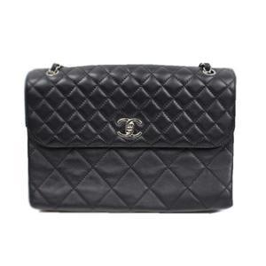 Chanel CHANEL Matrasse chain shoulder bag A49272 Calfskin black ladies