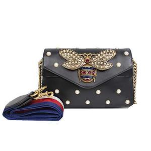 Gucci GUCCI Broadway 2 Way Bag 453778 Leather Black Ladies