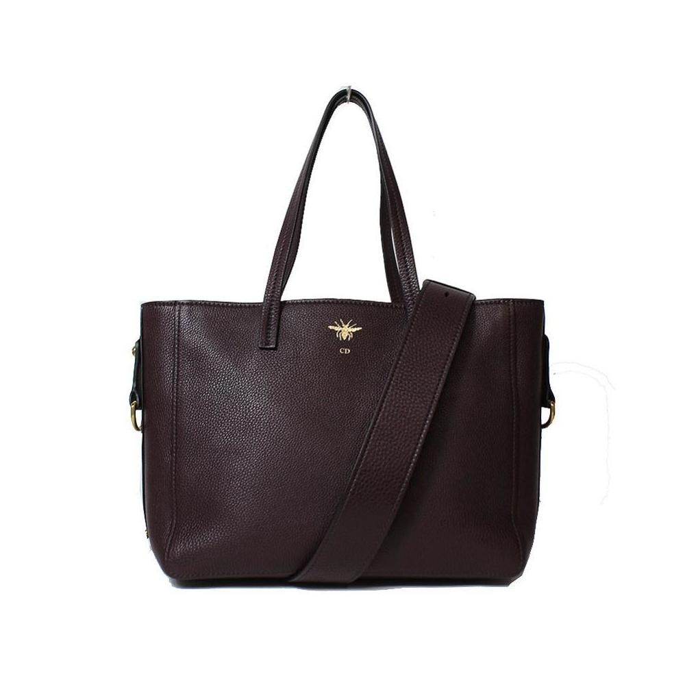 Christian Dior D-BEE Tote Bag M8500CVQR Maroon Red Women's