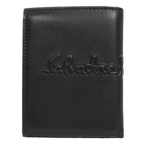 Salvatore Ferragamo 2 fold wallet 660686 Black × dark brown men's