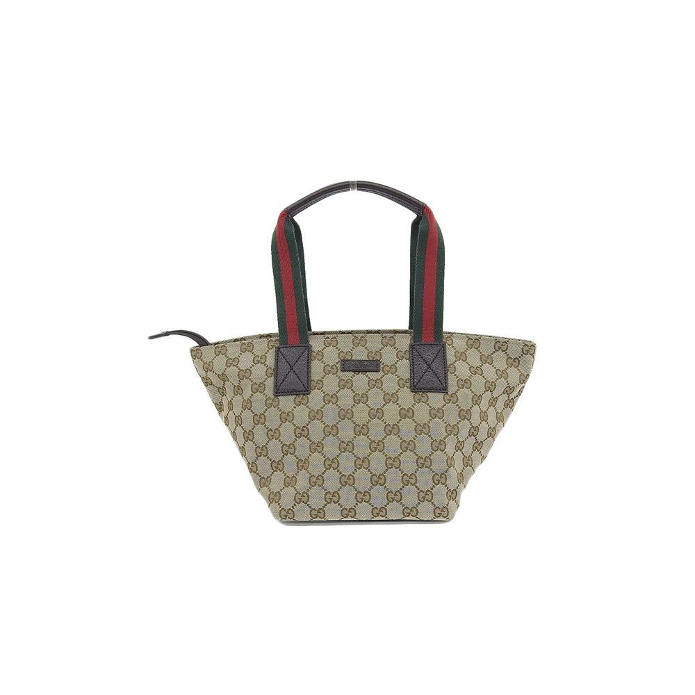 983954e03515 Genuine GUCCI Gucci GG canvas tote bag beige 131228 leather