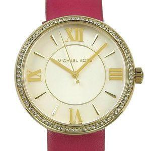 Genuine MICHAEL KORS Michael Kors Women's Quartz Wrist Watch Pink Leather Belt Model Number: MK-2684