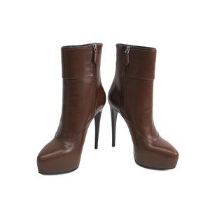 PRADA Boots Calfskin Brown
