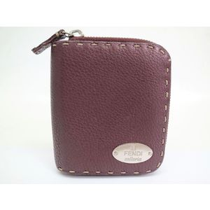 Fendi Bifold Wallet Selleria Leather Purple 8M0148