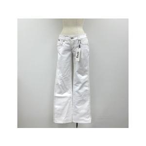 D&G Boots cut Denim Pants White Ladies 26