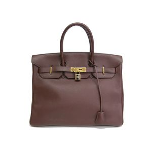 Hermes Birkin 35 Women's Togo Leather Handbag Havane