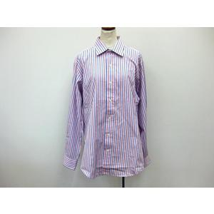 Polo by Ralph Lauren 長袖シャツ コットン ピンク×ブルー メンズ 41-84