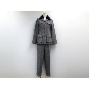 23-KU Tweed suit Wool/Nylon Gray 38 Ladies