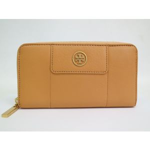 Tory Burch Leather Hunny Mclane Zip Continental Wallet 21119001