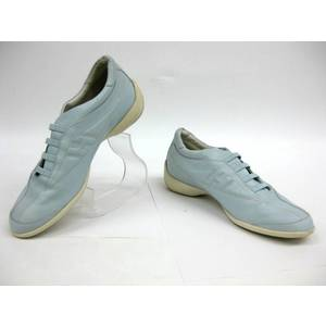 HOGAN Ladies Leather Sneaker L.Blue/White