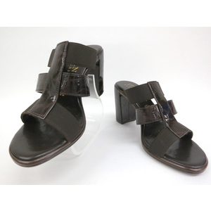 ITALIAN SHOEMAKERS SANDAL ARTIFICIAL LEATHER BROWN 36