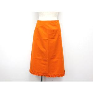 ビームス(Beams) スカート コットンxポリウレタン オレンジ 0 レディース スカート