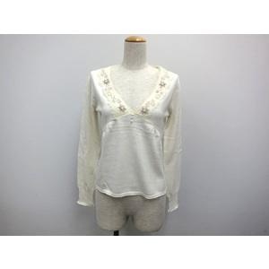 ABAHOUSE KNIT CUTSEW BAMBOO WHITE LADIES