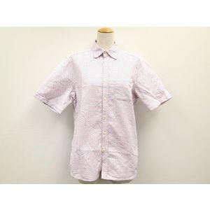 ビームス ドット柄ワイシャツ コットン ホワイト/ブルー/レッド M メンズ