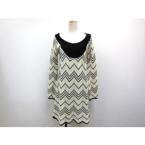 AUTH FREE'S KNIT ONE PIECE ACRYL/WOOL WHITE/BLACK M