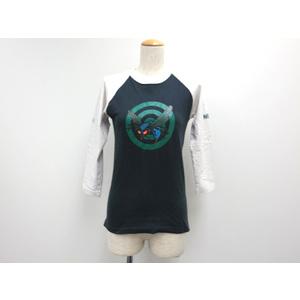 ネイバーフッド コットン7分袖Tシャツ ネイビーxマルチカラー メンズ
