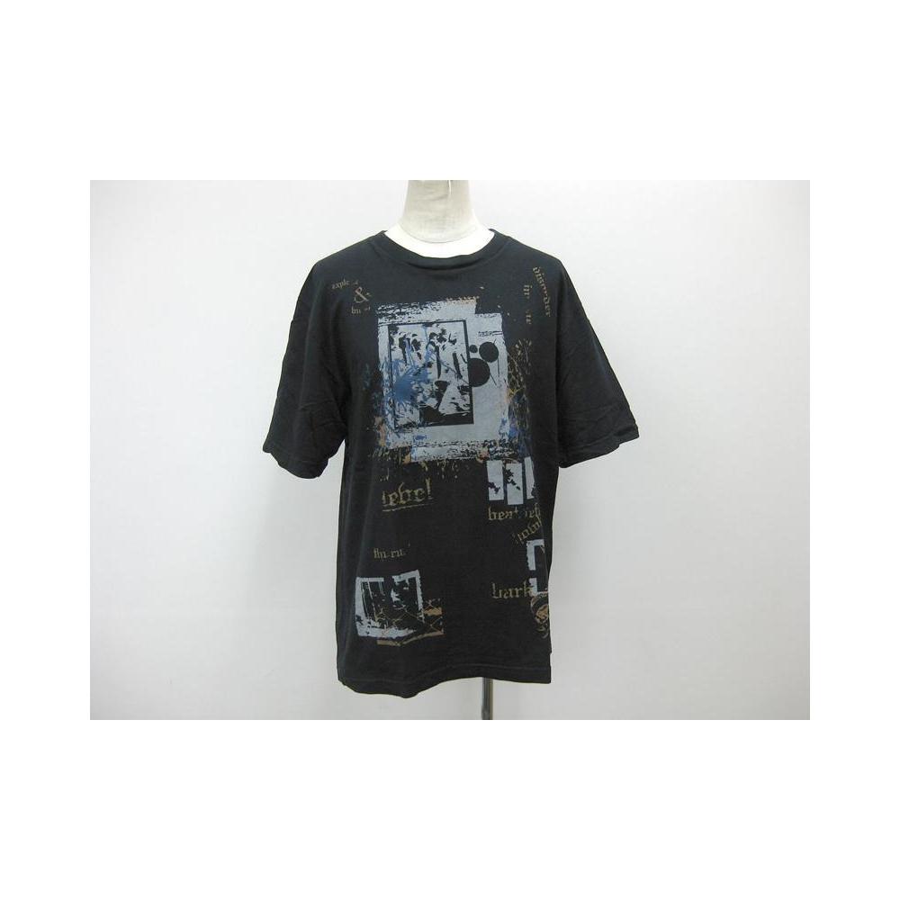 ビギ(BIGI) 半袖プリントTシャツ コットン ブラック メンズ M トップス