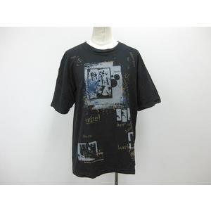 MENS BIGI 半袖プリントTシャツ コットン ブラック メンズ M