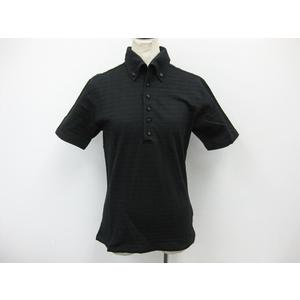 Mens Bigi 半袖ポロシャツ コットン×ナイロン ブラック メンズ 03