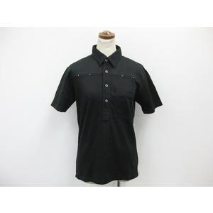 Mens Bigi 半袖ポロシャツ コットン×ポリエステル ブラック メンズ 02