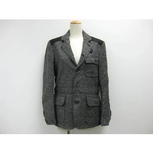 Mes Bigi Jacket Wool/Hemp/Cupla/Polyester Gray/Black 1