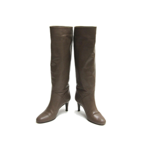 Bally Long Boots Leather Beige