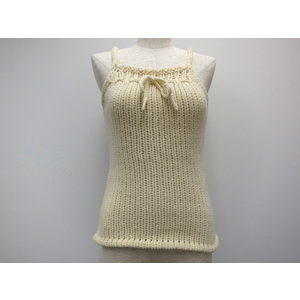 BARNEYS NEW YORK KNIT CAMISOLE WOOL/ACRYL WHITE
