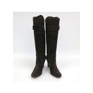 Bruno Magli LONG BOOTS SUEDE BROWN LADIES 36