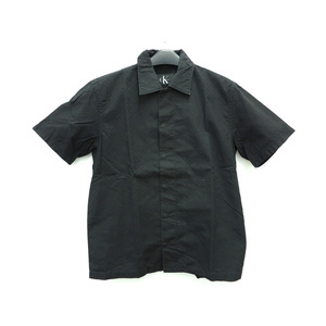Calvin Klein COTTON SHORT SLEEVE SHIRT BLACK MENS M