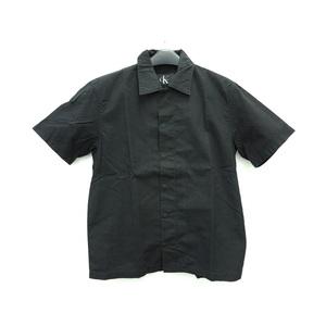 カルバンクライン コットン半袖シャツ ブラック メンズ M
