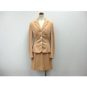 D&G スカートスーツ ポリエステルxナイロン ペールオレンジ 38