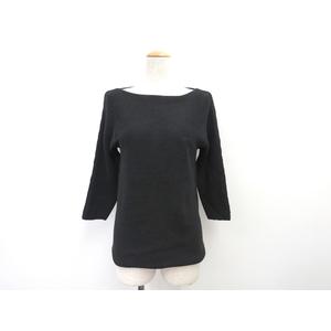 ディー・ケイ・エヌ・ワイ(DKNY) 7分袖セーター コットン ブラック レディース P S トップス