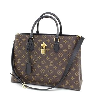 Louis Vuitton LOUIS VUITTON Flower · Tote Noir Monogram Canvas / Leather M43550 Brown Black Shoulder Bag