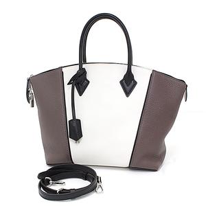 Louis Vuitton LOUIS VUITTON Rock It PM M51066 Full grain Toriyon Leather Mocha Brown / White Black 2 Way Tote Bag Shoulder by Color