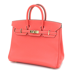 Hermès HERMES Birkin 25 Vaud Epson Rose Jaipur Gold Hardware □ P Engraved (made in 2012) Handbag