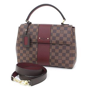Louis Vuitton LOUIS VUITTON Bond Street Bordeaux Damier / Canvas Toriyon Leather N64416 Handbag Shoulder Bag as New